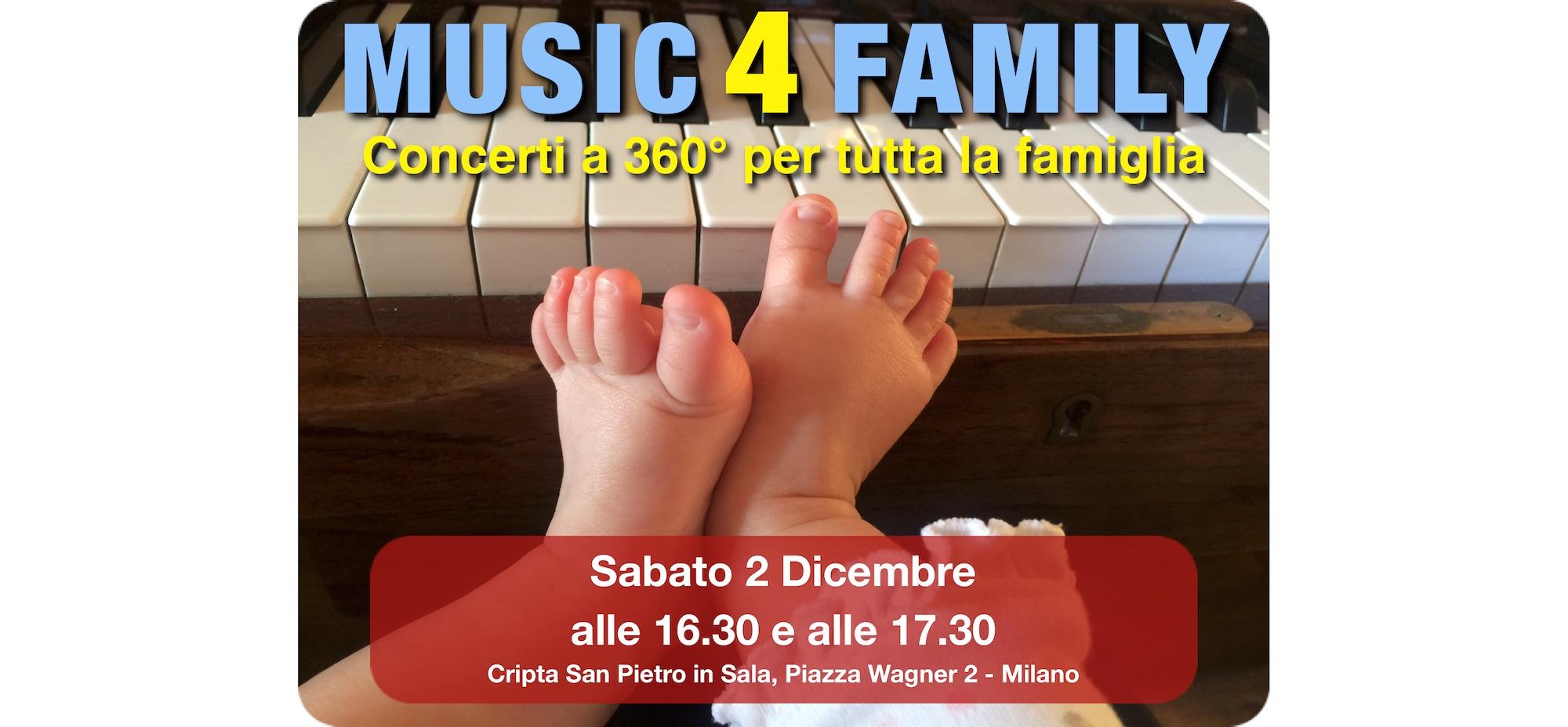 Sabato 2 dicembre • MUSIC4FAMILY 360°