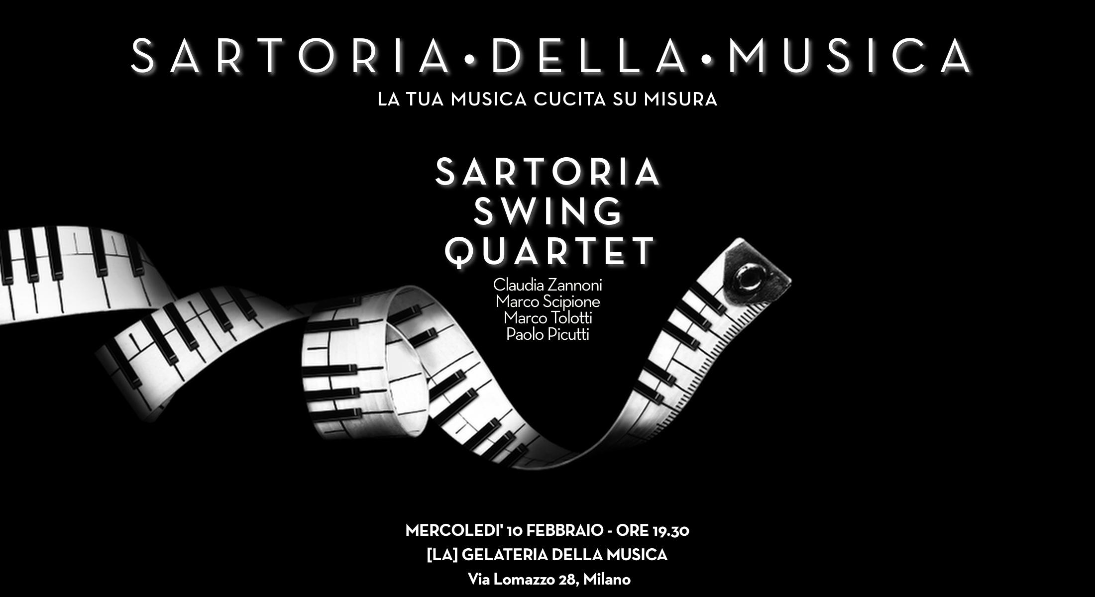 10 FEBBRAIO – SARTORIA INCONTRA [LA] GELATERIA DELLA MUSICA