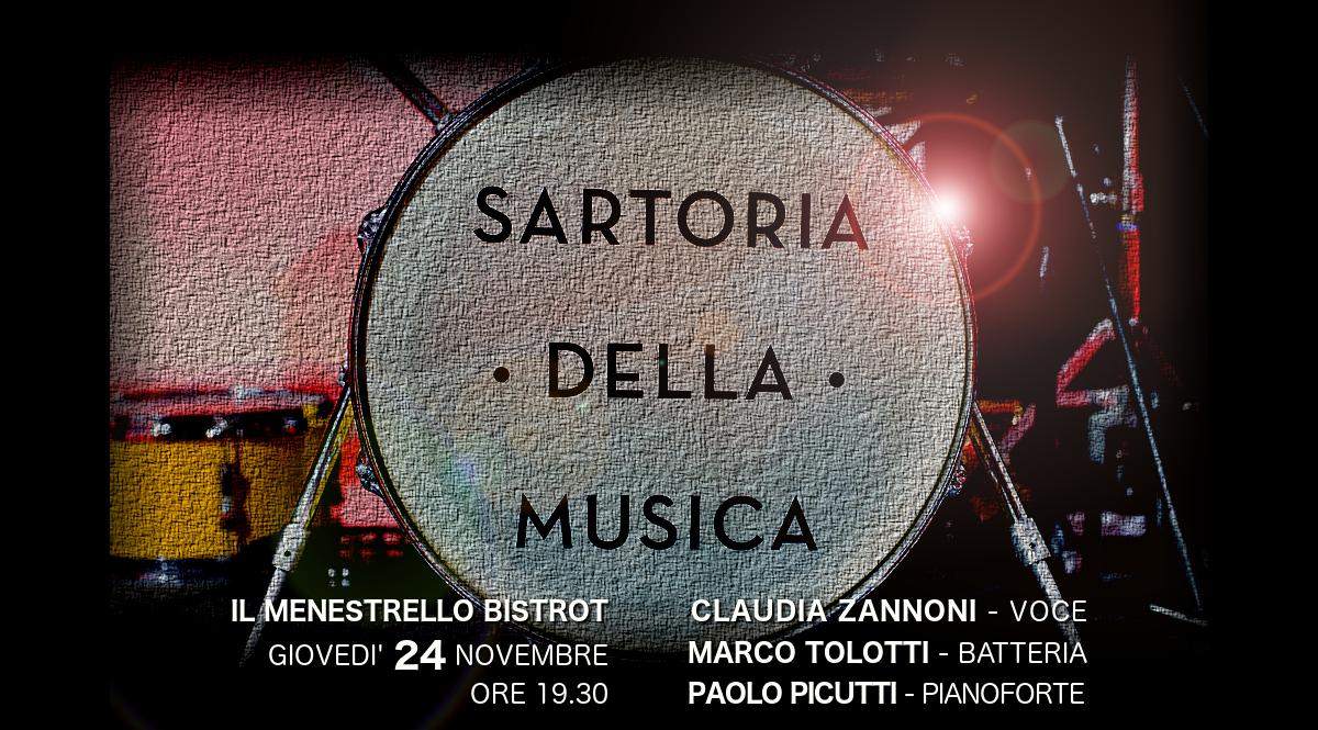 24 NOVEMBRE – SARTORIA LIVE TRIO