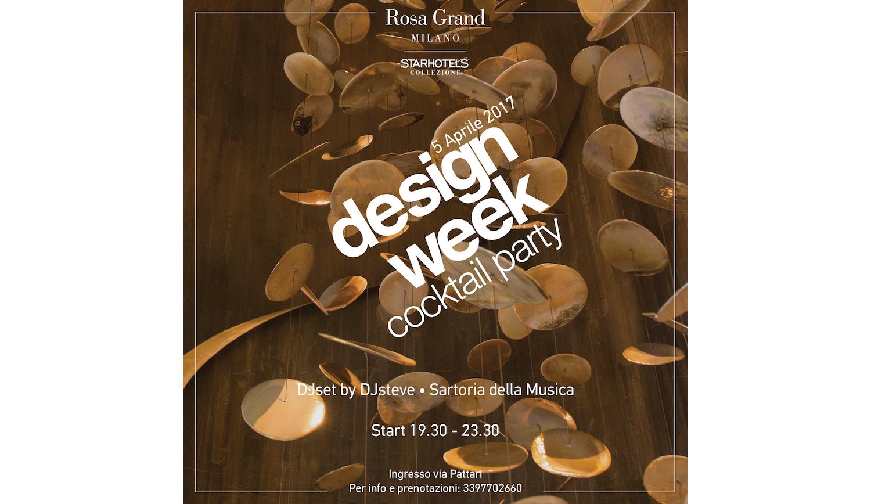 Mercoledì 5 aprile • Design Week con il DJset di Sartoria
